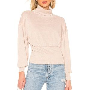 Free People Glam Turtleneck in Pearl Dust NWT